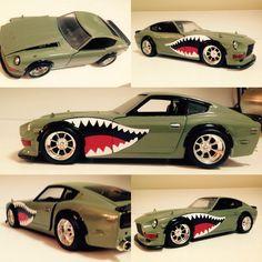 Custom Hot Wheels, Custom Cars, Jeep Rat Rod, Nissan Z Cars, Shark Mouth, Truck Stickers, Kia Rio, Datsun 240z, Japan Cars