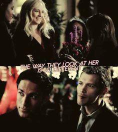 The Vampire Diaries - Klaus, Caroline and Tyler