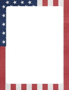 The patriotic themed letter paper stationery is perfect for an ...