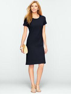 Talbots - Zip-Shoulder Tee Dress   Indigo Blue