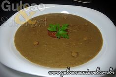 Receita de Sopa Creme de Lentilhas
