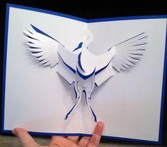 Stork pop-up card (template from cahier de kirigami 4 )
