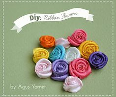 Video tutorial: How to make this cute Ribbon Flowers #diy #tutorial #flower #ribbon #embellishment