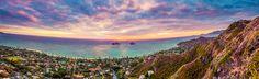 Lanikai - View of the Mokulua Islets, Oahu, Hawaii.