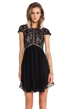 Lumier Heart of Glass A-line Dress in Black//