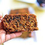 Eggless dates cake recipe with wheat flour & oats