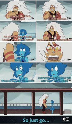 Jasper and Lapis...  this was one of the most intense, real moments that SU has ever had. So good.