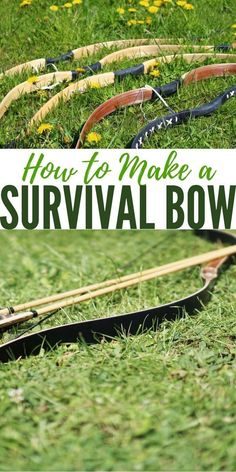 How to Make a Survival Bow — Survival bows can be made from various materials I have to imagine they would be capable of taking small game and perhaps some bow fishing as well .