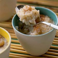 Arroz con Coco (Cuban Coconut Rice Pudding) Recipe by Cooking Light Cuban Rice, Delicious Desserts, Dessert Recipes, Gourmet Desserts, Creamy Rice Pudding, Cuban Dishes, Cuban Cuisine, Cuban Recipes, Ww Recipes