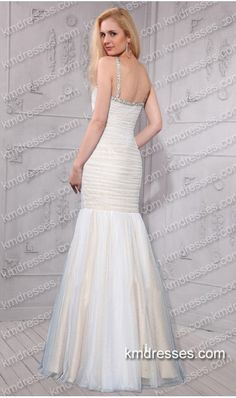 striking keyhole neckline beads crystals embellished fitted floor length mermaid gownb White Dresses http://www.ikmdresses.com/striking-keyhole-neckline-beads-crystals-embellished-fitted-floor-length-mermaid-gownb-p60470