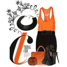 Orange & Black fashion.