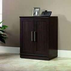 Home Storage Cabinet Furniture Closet Organizer Shoe Rack Kitchen Shelf Wood New #Sauder