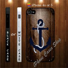 new anchor nautical iphone 4s and 5 cases, anchor nautical - iPhone 4 Case, iPhone 4s Case, iPhone 5 Case