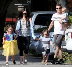Megan Fox continued to spend some quality time with her kids as she and her husband Brian Austin Green stepped out for lunch in Malibu on Monday Megan Fox Kids, Megan Denise Fox, Brian Austin Green, Megan Fox Style, Teenage Drama, Silver Sandals, Kids And Parenting, American Actress, Royals