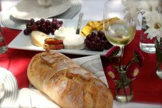 Bread, cheese and wine. Perfect!