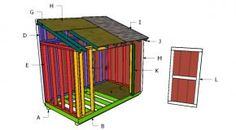 This step by step diy project is about lean to shed roof plans. This is PART 2 of the shed plans, where I show you how to build the lean to roof and the front door. Free Shed Plans 10x12, Shed Plans 12x16, Lean To Shed Plans, Run In Shed, Diy Shed Plans, Storage Shed Plans, Free Plans, Gazebo, Pergola Diy