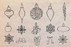 Christmas Hand drawn brushes 01 by Tatiana Kost design on @creativemarket