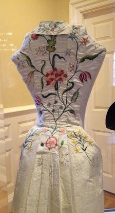 SilkDamask : Visiting With Elizabeth Bull's Wedding Dress, c. 1731-1735