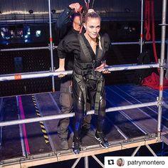 """Me enfrento a uno de los retos más increíbles que he vivido hasta ahora.⛩ Caída libre de 25metros dando la bienvenida al increíble """"Monte Midoriyama"""" ⛰ ¿Logrará alguien su ascenso este año? 🧗🏼♀️ @antena3com @patrymontero @ninjawarriortv @lornajanees #NinjaWarrior #NinjaWarriorEspaña ⛰🏃🏼♀️ 📸 @elena_gonzalez_torres_foto"""