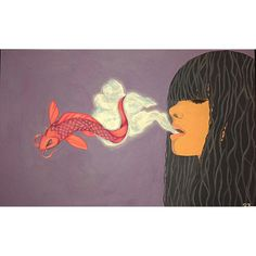 Smoke Into Water, Acrylic Koi, Vape, Disney Characters, Fictional Characters, Artsy, Clouds, Smoke, Disney Princess, Abstract