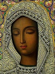 Kaluga icon. black Madonna
