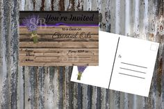 4 x 6 Essential Oils Class Invitation Printable Instant Etsy Business Cards, Rsvp, Essential Oils, Printable, Invitations, Texture, Unique Jewelry, Handmade Gifts, Crafts