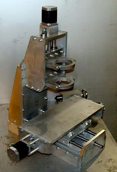 Cnc Router Plans, Cnc Plans, Metal Lathe Projects, Cnc Projects, Homemade Cnc, Desktop Cnc, Diy Lathe, Cnc Table, Arduino Cnc