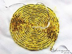 Conductive Thread and Yellow Seed Bead eTextile Speaker Smart Textiles, E Textiles, Technology Gifts, Wearable Technology, Fashion Technology, Conductive Thread, Led Projects, Wearable Device, Snake Plant