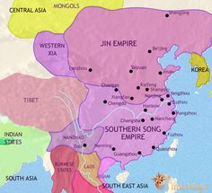 history map of China 1215AD