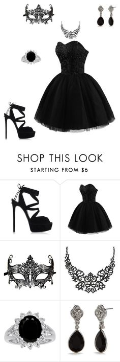 """Masquerade"" by fearless-dreamer09 ❤ liked on Polyvore featuring Casadei and Chaps"