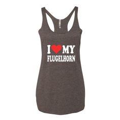 I Love My Flugelhorn, Women's tank top