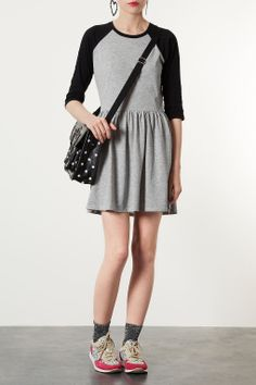 Raglan Sleeve Skater Dress - Back In Stock - New In - Topshop USA