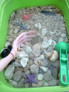 Beach in a box sensory bin