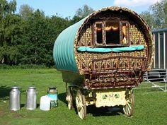Very detailed caravan exterior