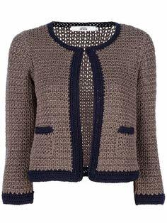 Women Crochet Cardigan/Gray Cr