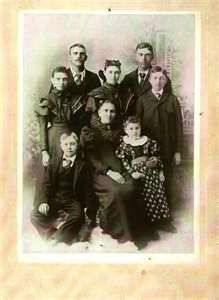 Belle Starr, the bandit queen and her kids.