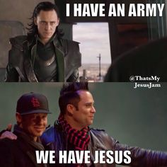 John cooper (skillet) (right) and Toby Mac (left). This is the best thing ever. Just wait until you see Jesus's army. Hahaha.