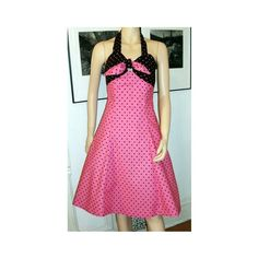 Pink and Black Polka Dot Retro Rockabilly by ChaoticCouture22, $99.00
