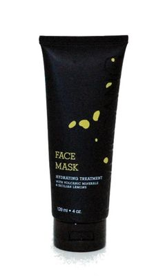 E.VULCANO - Face Mask Inspired by Mt. Etna featuring Sicilian Lemons.   Shop Italy & Sicily