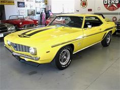 Usually not a huge fan of yellow but this '69 Camaro has changed by mind!