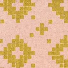 HALF YARD:  Mesa Canvas Tile in ROSE Metallic Gold (4014-22) - Cotton Linen by Alexia Marcelle Abegg for Cotton + Steel by ModernQuilter on Etsy https://www.etsy.com/listing/221050422/half-yard-mesa-canvas-tile-in-rose