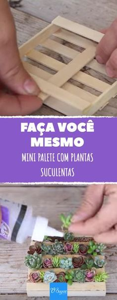 Succulents garden This woman builds a miniature pallet and then decorates it with it. Deco Floral, Cactus Y Suculentas, Succulents Garden, Diy Crafts To Sell, Pink Crafts, Cactus Plants, Gardening Tips, Gardening Quotes, Organic Gardening