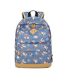 fcf63f5595910 Canvas Women Portable Travel Backpacks For Teenage Pig Nose Girls Student  School Shoulder Bag Casual Floral Rucksack Mochilas