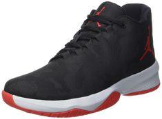 b1000ac6ecec NIKE Mens Air Jordan B.Fly Basketball Shoes Black University RedWolf Grey 8  DM