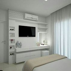 Вконтакте дизайн квартир quartos, decoração quarto casal и painel para quar Bedroom Tv Wall, Bedroom Closet Design, Girl Bedroom Designs, Small Room Bedroom, Small Rooms, Home Bedroom, Master Bedroom, Bedroom Decor, Bedroom Ideas