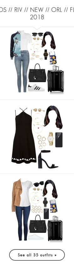 """""""LOS // RIV // NEW // ORL // FLR 2018"""" by ittgirl ❤ liked on Polyvore featuring Rosetta Getty, Topshop, Yves Saint Laurent, Tumi, adidas Originals, Jennifer Meyer Jewelry, Alison Lou, Ileana Makri, MANGO and Marc by Marc Jacobs"""