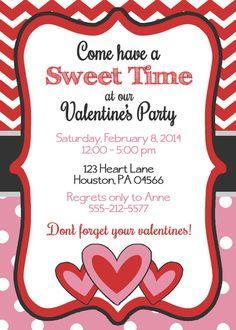 Valentine's Invitation Printable Chalkboard by ThatPartyChick ...