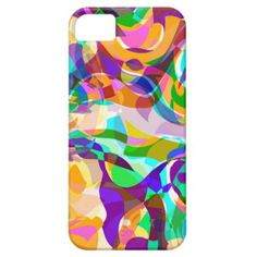 Funky Colorful Retro Abstract Mosaic Pattern Apple iPhone SE + 5/5S case