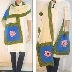 Add fragrance with this beautiful cotton stole.The handpainted floral motif says it all. Blend it with western or indo - western wear and the day is yours.