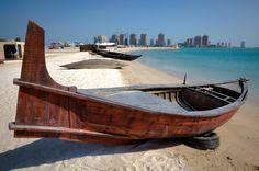 Traditional boats at Katara beach #Doha #Qatar